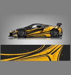 Sport car racing wrap design design vector