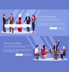 Successful business company vector
