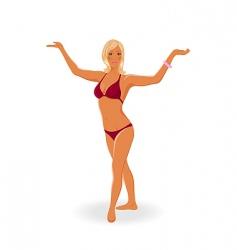 Sunbathe girl isolated vector