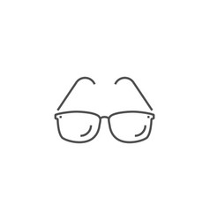 Sunglasses related line icon vector