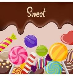 sweet candy poster vector image