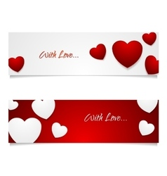 Valentine Day graphic design with hearts vector image