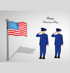 veterans day background vector image