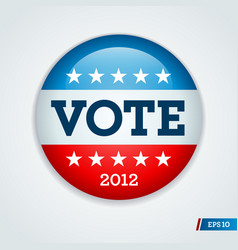 vote 2012 button vector image
