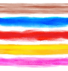 Watercolor rainbow background with some stripes vector