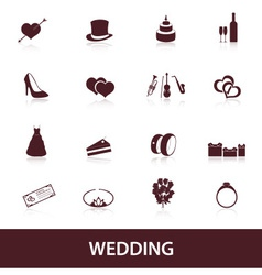 wedding icons eps10 vector image