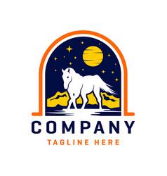 wild horse logo design template vector image