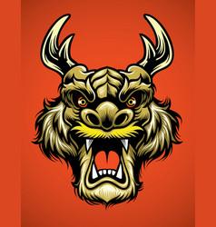 asian dragon head vector image vector image