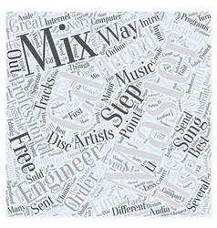 Intro To CD Mastering Word Cloud Concept vector image