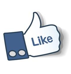 Like sticker vector image