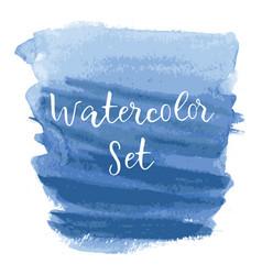 logo art abstract brush painted watercolor vector image