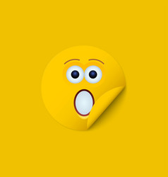 modern yellow face sticker creative vector image vector image