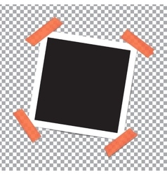 Realistic photo frame on sticky tape vector image vector image