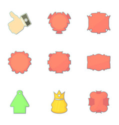 shop tags icons set cartoon style vector image vector image
