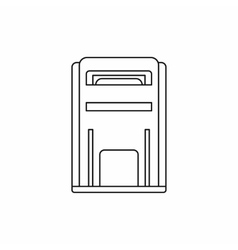 Square post box icon outline style vector