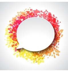 Abstract white paper speech bubble on color grunge vector image