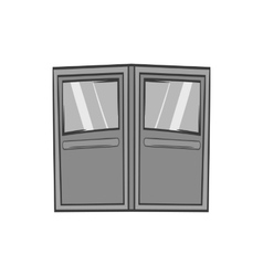 Double door for restaurant icon monochrome style vector image vector image