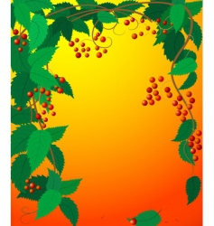 frame leaves vector image vector image