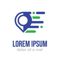 map pin logo icon template vector image