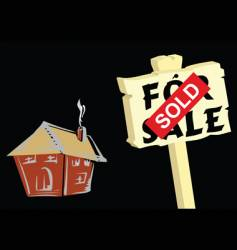 sold sign vector image