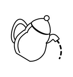 tea pot kettle coffee outline vector image