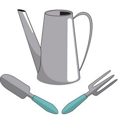 watering can shovel fork vector image