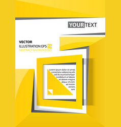 abstract background yellow square vector image