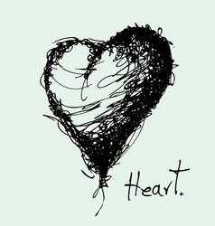 drawing of heart vector image