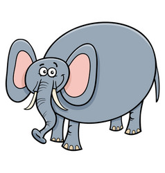 Funny elephant animal cartoon character vector
