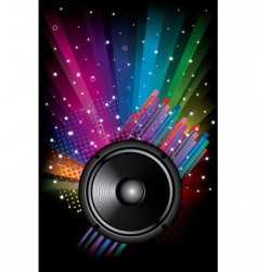 rainbow disco background vector image vector image