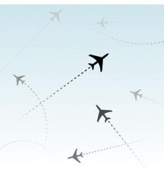 commercial airline vector image vector image
