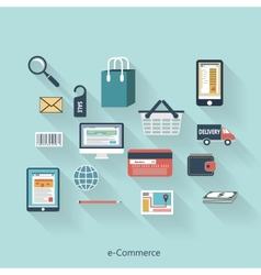 E-Commerce modern concept in flat design vector image