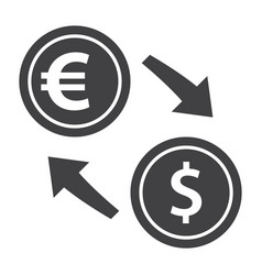 exchange currency icon vector image vector image
