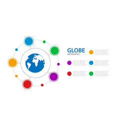 infographics business with a globe in the center vector image
