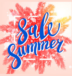 summer sale exotic and tropic background design vector image