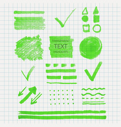 transparent highlighter marks vector image vector image