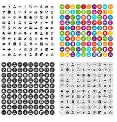 100 coherence icons set variant vector