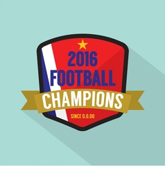 2016 Football Champions Badge vector
