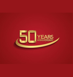 50 years anniversary logo style with swoosh vector