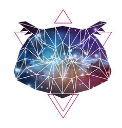 Abstract polygonal tirangle animal owl vector