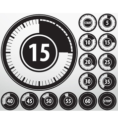 Analog timer icons set vector image
