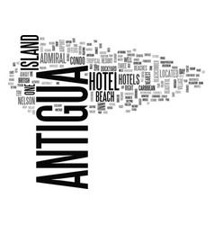 antigua history text word cloud concept vector image