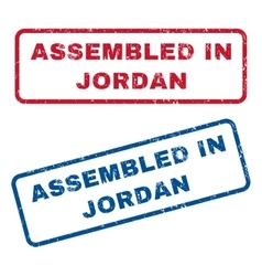 Assembled In Jordan Rubber Stamps vector