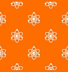 Atomic model pattern seamless vector