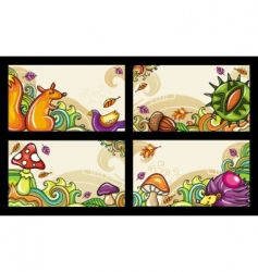 autumn cards vector image