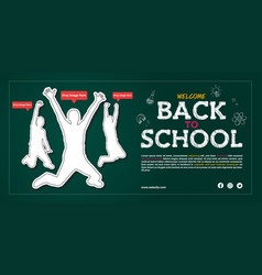 Back to school open admission announcement poster vector