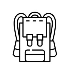 Backpack line icon concept sign outline vector