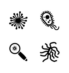 bacteria simple related icons vector image