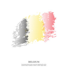 belgium flag with halftone effect vector image