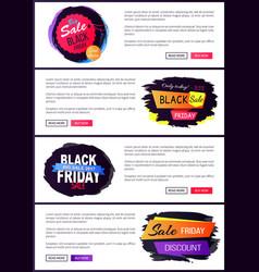 big sale black friday website vector image